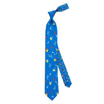 Thomas Pink Tierney Two Flower Printed Tie Blue/multi