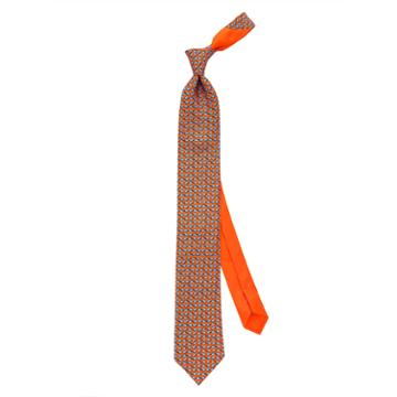 Thomas Pink Somersault Elephant Printed Tie Orange/blue