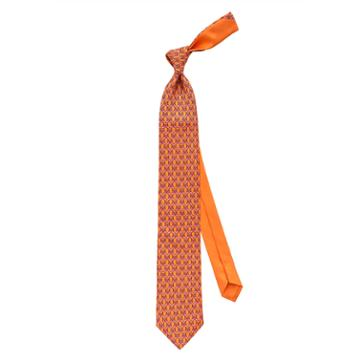 Thomas Pink Flamingo Heart Printed Tie Orange/pink