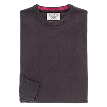 Thomas Pink Teabing Jumper Dark Grey/plain