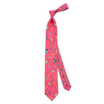 Thomas Pink Tierney Two Flower Printed Tie Pink/multi