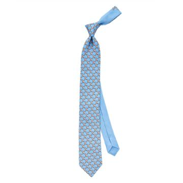 Thomas Pink Love Bird Printed Tie Pale Blue/pink