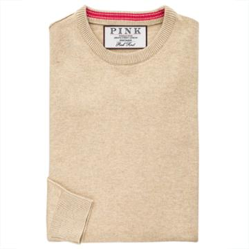 Thomas Pink Teabing Jumper Pale Brown/plain