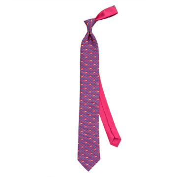 Thomas Pink Fish Printed Tie Pink/blue