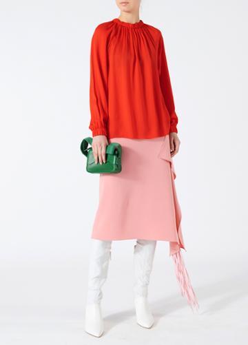 Triacetate Fringe Skirt
