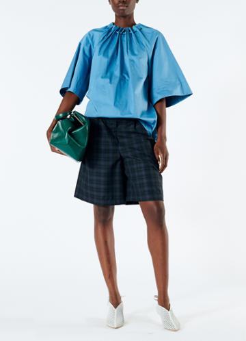 Marvel Plaid Pleated Shorts