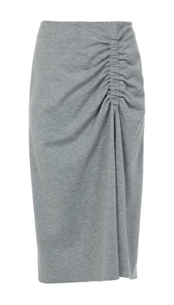 Bond Stretch Knit Shirred Skirt