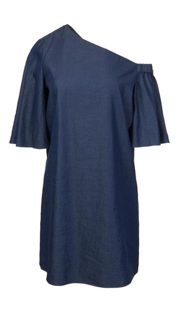 Denim Bell Sleeve Dress