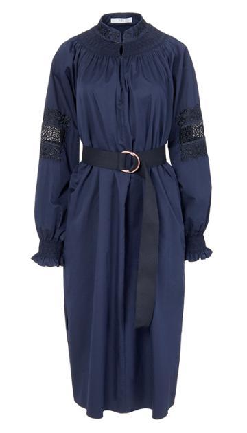 Cora Embroidery Midi Dress