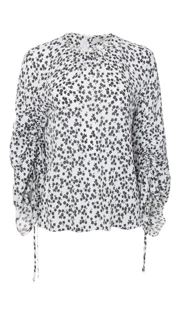 Lila Floral Tie Sleeve Top