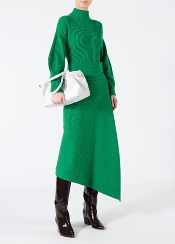 Merino Rib Origami Wrap Skirt