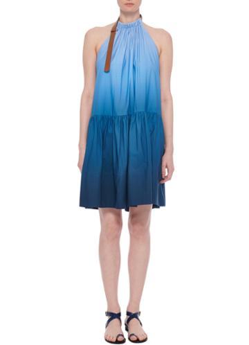 Dip Dye Halter Short Midi Dress