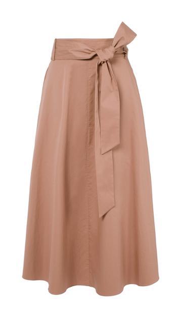 Satin Poplin Wrap Skirt