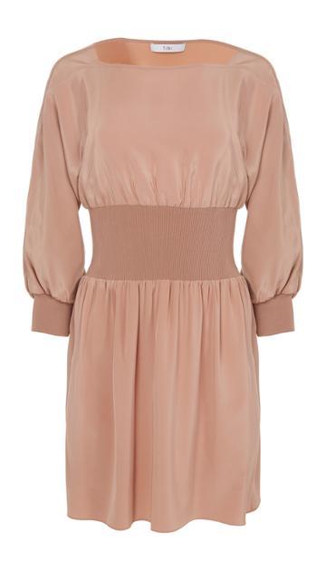 Silk Sculpted Corset Dress