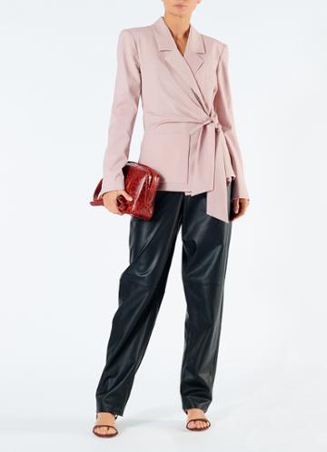 Cross Dye Wool Wrap Jacket