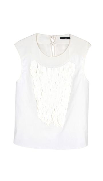 Baguette Sequins Embroidered Top