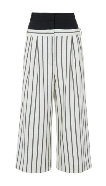 Lucci Stripe Double Waist Cropped Pants