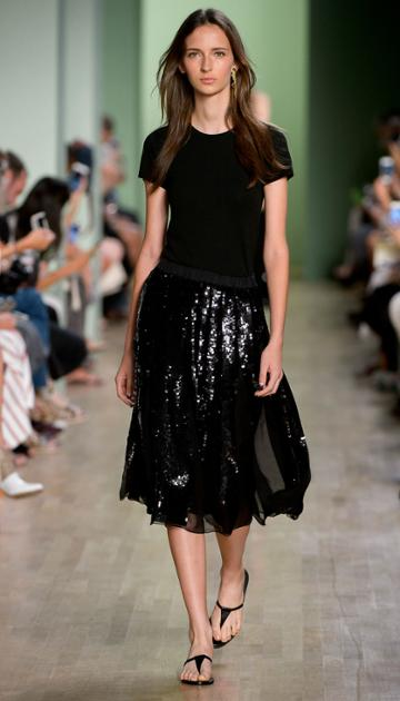 Éclair Sequins Pleated Skirt