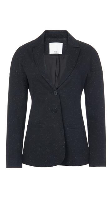 Luxe Tweed Tie Back Blazer