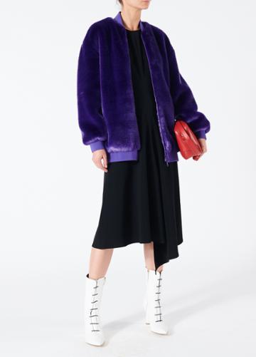Triacetate Dress With V-back