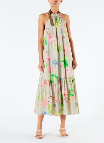 Poplin Halter Neck Dress