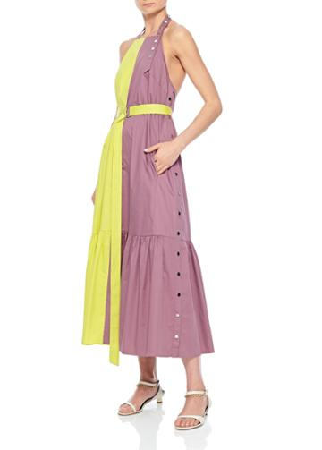 Tech Poplin Colorblock Dress