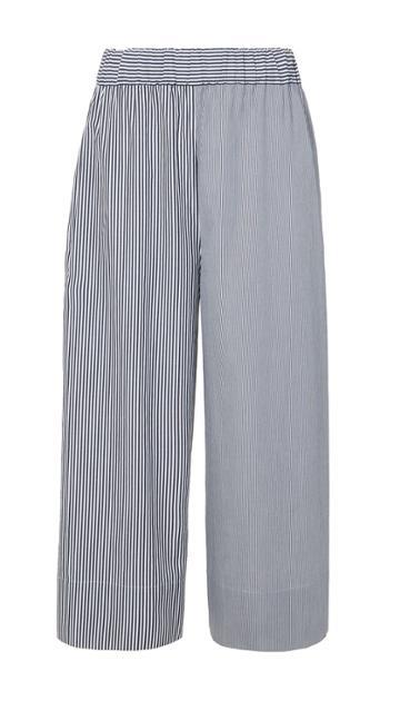Stripe Shirting Wide Leg Pant