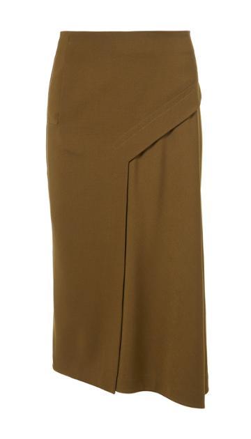 Viscose Twill Draped Skirt