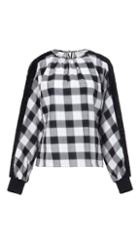 Plaid Top With Lurex Detail