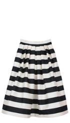 Escalante Striped Silk Full Skirt
