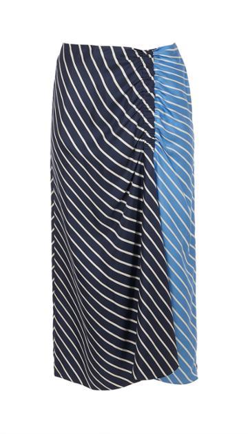 Delphina Stripe Shirred Skirt