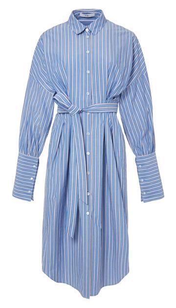 Garcon Striped Shirtdress With Wide Cuff