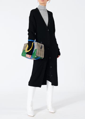 Merino Rib Sculpted Sleeve Long Cardigan