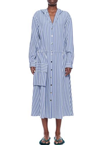 Viscose Twill Anorak Maxi Dress
