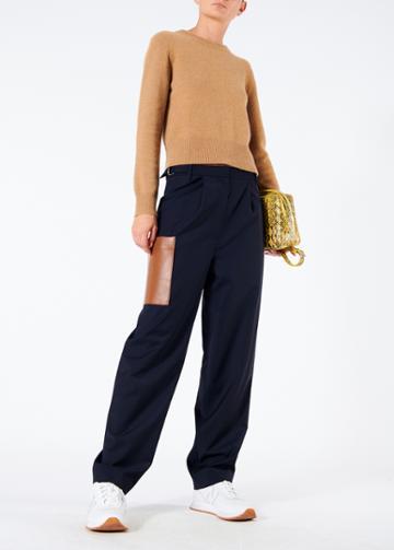 Tablier Plainweave Straight Leg Paperbag Pants