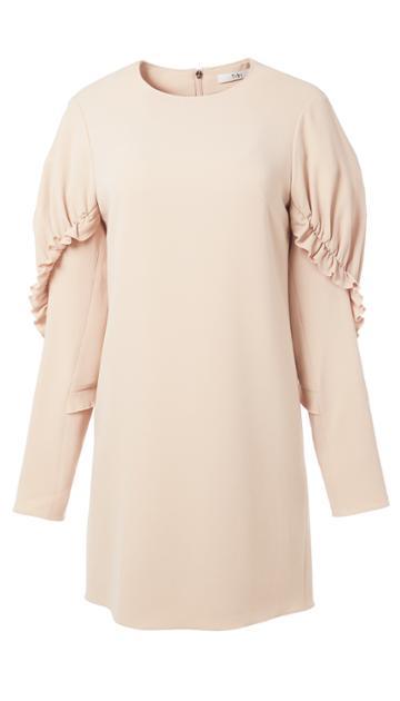 Triacetate Short Ruffle Dress