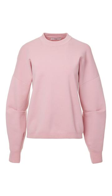 Sculpted Wool Pullover With Zip Detail