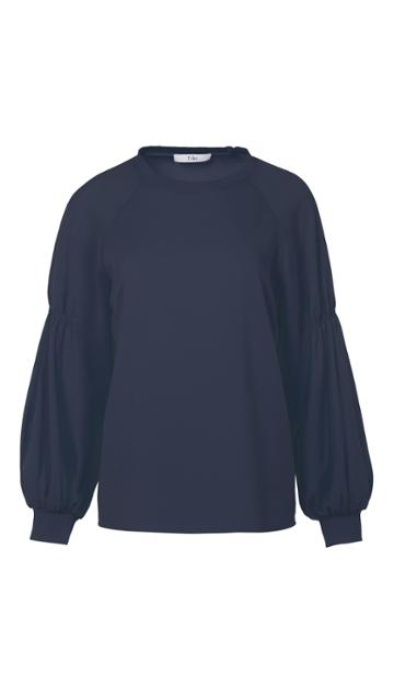 Savanna Crepe Easy Shirred Sleeve Shirt