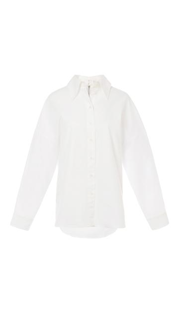 Watts Oxford Easy Shirt With Zipper Detail