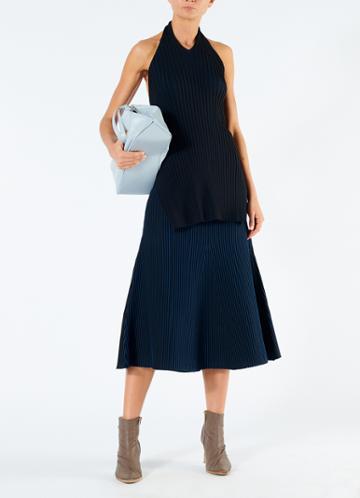 Tech Poly Ribbed Skirt
