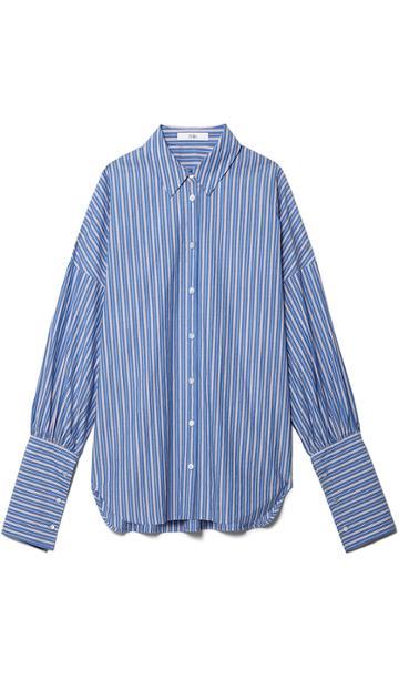 Garcon Striped Shirt With Wide Cuff