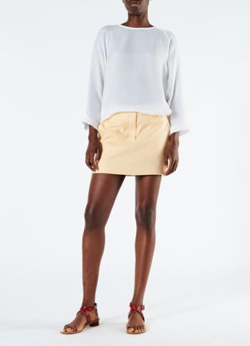 Linen Canvas Mini Trouser Skirt
