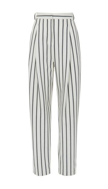 Lucci Stripe Sculpted Pleat Pants