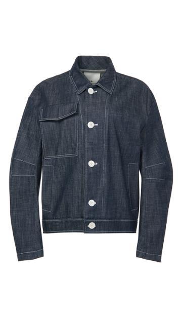 Raw Denim Sculpted Jacket