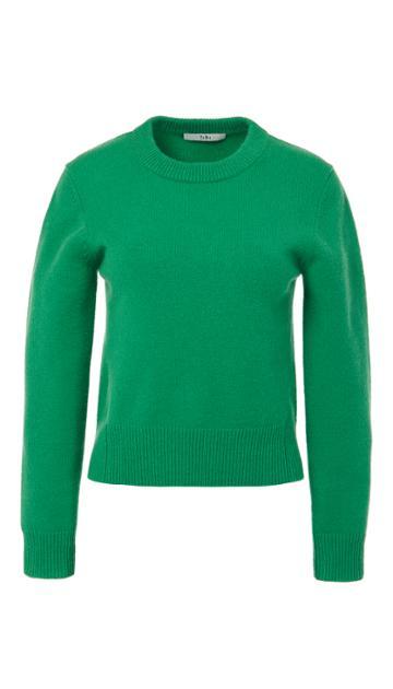 Stretch Cashmere Crewneck Pullover