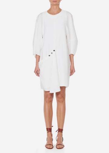 Asymmetrical Short Flap Front Dress