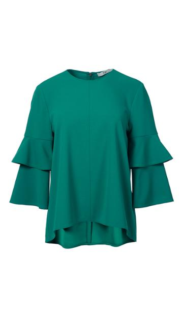 Structured Crepe Bell Sleeve Top