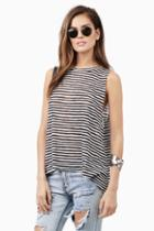Tobi Eliza Striped Tank Top