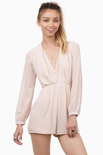 Tobi Close Up Pleated Romper