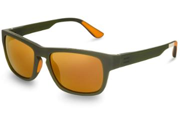 Toms Traveler By Toms Women's Eben Matte Rifle Green Gold Mirror Lens Sunglasses With Gold Mirror Lens